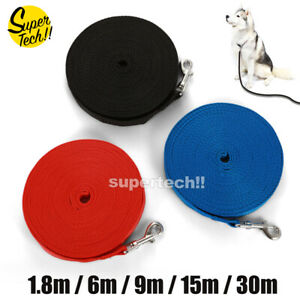 1.8/6/9/15/30M Long Dog Pet Puppy Training Tracking Obedience Recall Lead Leash