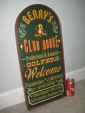 3d Painted Wall Clubhouse GOLF Golfer Wood Bar Man Cave Welcome 19th Beer Sign