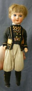 """12"""" ORIGINAL FRENCH ANTIQUE DOLL, BISQUE DOLL 1920s BOY DOLL, VINTAGE DOLL"""