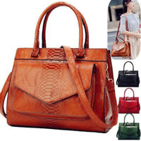 Women Girls PU Leather Shoulder Bag Handbag Messenger Crossbody Satchel Purse Q