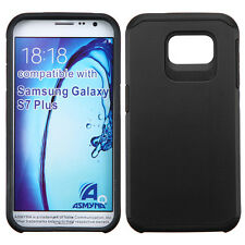 BLACK  FUSION HYBRID RUBBERIZED COVER CASE LATEST For SAMSUNG Galaxy S