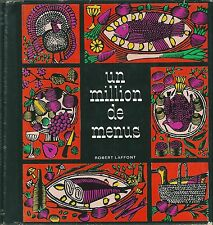 A million menus 1965 gastronomy cuisine recipe