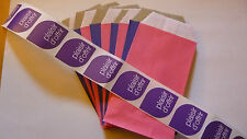 """10 Pochettes cadeau kraft 12cm x 7 cm +10 étiquettes"""" plaisir d'offrir"""" au choix"""