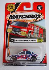 Matchbox 50 Years Chevy Impala Dare Poilice Logo