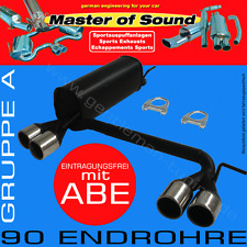 MASTER OF SOUND DUPLEX AUSPUFF VW GOLF 4 CABRIO