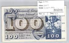 BILLET SUISSE - 100 FRANCS  2-4-1964