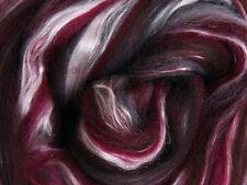 "SILK MERINO Sliver blend by Ashford NZ  ""STORM""  for spinning felting 100gms"
