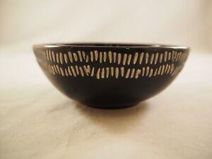 Karma Small Mason Bowl Organic Black Stoneware 4.5in