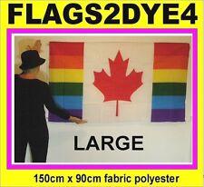 Canada flag Canadian flag rainbow flag + FREE sticker for car caravan boat bike