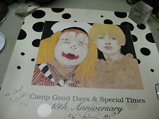 RAMON  SANTIAGO   CAMP GOOD  DAYS 15th ANNIVERSAY 1994 SIGNED  PRINT  18 X 18''