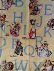 "Beatrix Potter Custom Nursery Drapes New 3 Panels each 42 x 84""Rod Pocket"
