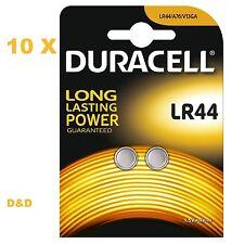 20 pile batterie LR44 LR 44 DURACELL  1,5 V alkaline A76  KA76  V13GA  LR 44