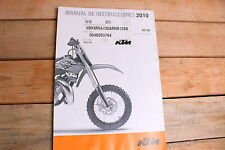 2010 KTM 65 SX OEM Manual De Instrucciones 3211478es