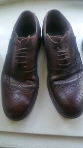 Mens Ferguson   ox blood Leather Wing Tip Brogue Shoes Size UK  10 eu 44