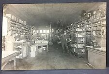 c1910 real photo postcard GENERAL STORE @ GERMANTOWN, ILLINOIS [a classic view!]