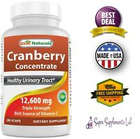 CRANBERRY 180 CAPSULES 3x Concentrate 50:1 12600 mg Healthy Urinary Tract  Pills