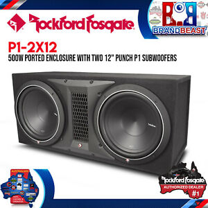 "Rockford Fosgate P1-2X12 Punch Dual P1 12"" Loaded Enclosure"