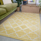 Ochre Yellow Living Room Rugs Small Large Rugs For Lounge Long Moroccan Runners