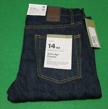 Selvedge Slim Straight Jeans Size 29x32 Blue Men Free Shipping