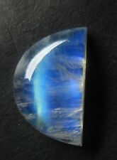 28Ct NATURAL FABULOUS BLUE FLASH RAINBOW MOONSTONE 16.5X27mm FANCY CABOCHON S86