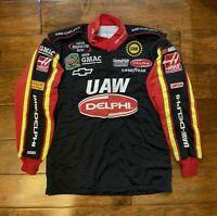 Race Used Jerry Nadeau #25 UAW Delphi Racing Pit Crew Fire Jacket NASCAR Rare