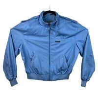 Vtg Members Only Jacket Mens 46 Blue Coat Bomber Racer Cafe