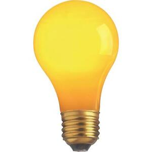 Satco 25W Yellow Party Bulb