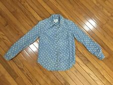 Anthropologie Holding Horses Blue Floral Top Button down Blouse Shirt Size 0