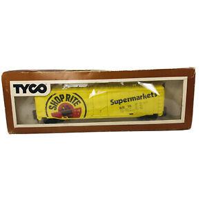 Vintage HO Tyco Shop Rite Supermarkets 50' Advertising Box Car SR # 76