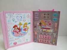 Disney Princess Beauty Cosmetic Set Lip Gloss Nails etc - 28 PcSet Reusable Box