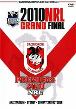 St George Dragons 2010 Grand Final -  Full Match - Free Postage brand new sealed