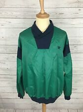 Men's Adidas Retro Pull Over Rain Jacket/Windbreaker - XL 46 - Green & Navy