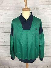 Para Hombre Adidas Retro Pull Over Lluvia Chaqueta/Cazadora-XL 46-Green & Navy