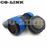 SD28 22PIN WATERPROOF CONNECTOR, 5A 250V PANEL MOUNT LED POWER CABLE PLUG SOCKET