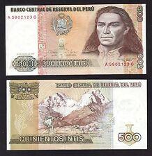 Peru 500 Intis (1987) P134b Banknotes - UNC