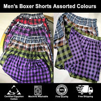 Mens Woven Check Boxer Shorts Cotton Rich Underwear Breifs Trunks 3 6 12 Packs