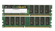 1GB MEMORIA/RAM DDR1 400Mhz PC3200 < CORSAIR >VALUE SELECT VS1GB NO ECC PC FISSO