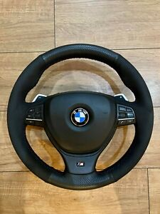 BMW 5/6/7 SERIES F10 F11 F12 M SPORT STEERING WHEEL WITH PADDLE SHIFT ALCANTARA