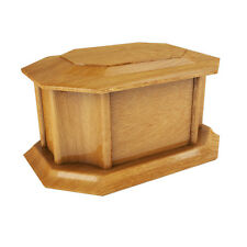 Solid Wood Wooden Ashes Casket Urn Funeral Cremation Burial REMEMBRANCE BNIB