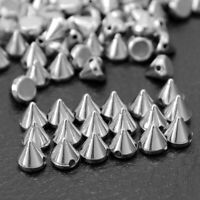 100 Pcs Silver Sewing Spike Rivet Studs Punk Rock For Leathercraft Decoration