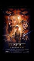 NEW STAR WARS PHANTOM MENACE MINT Drew Struzan ART ROLLED !! POSTER EPISODE #1