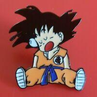 Dragon Ball Z Pin DBZ Goku Sleeping Cute Enamel Retro Metal Brooch Badge Lapel