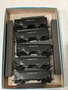 ATHEARN 5574 AAR 50 TON HOPPER KIT 5-PACK CANADIAN PACIFIC CP