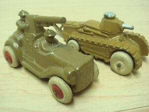 c30s Barclay Military Anti-Aircraft Coupe Car + Tank Exc Clean Shape!