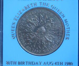 1980 Queen Mother 80th birth Crown (cased) Elizabeth II QEII nice coin *[MOTH80]