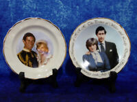 2x Vintage Prince Charles & Lady Diana SMALL PLATES Royal Wedding 29th July 1981