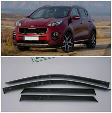 For Kia Sportage 4 2015-2017 Window Side Visors Sun Rain Guard Vent Deflectors