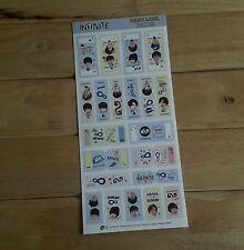 INFINITE Index Label Sticker KPOP Sunggyu Dongwoo Woohyun Hoya L Sungyeol