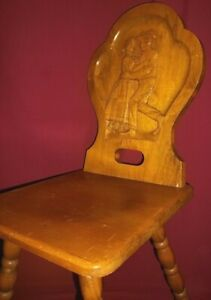 Bombenstabil Hand Carved Wood Backrest Sweetheart, Proposal Chair Man & Woman