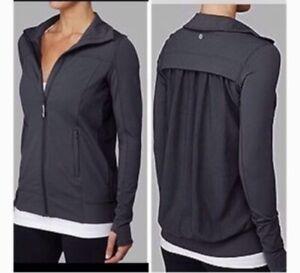 Lululemon Tadasana Mesh Jacket Size 8
